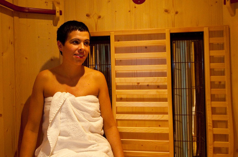 Infrarotsauna mit Aromatherapie