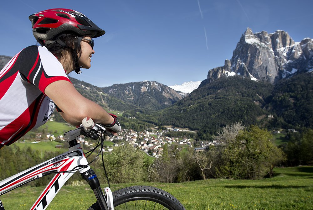 Pure fun: with a mountain bike on the Alpe di Siusi